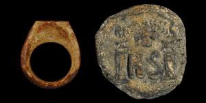 Byzantine Bone Ring and Weight