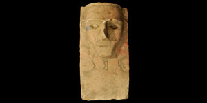 Southern Arabian Figural Limestone Plaque