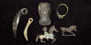 Medieval Group of Bronze Items