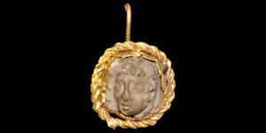 Roman Gold Cameo Earring