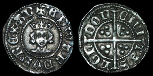English Medieval - Edward III - Treaty Series - Halfpenny