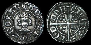 English Medieval - Edward III - Treaty Series - Halfpenny