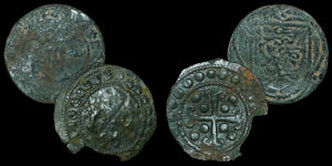 English Medieval - Sterling and Bird Jetons