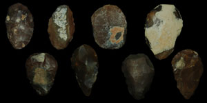 European Palaeolithic - Eight Small Flint Axes/Choppers