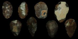 European Palaeolithic - Eight Small Flint Axes/Choppers