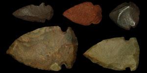 North America - Five Stone Arrowheads