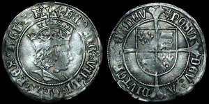 English Tudor - Henry VII - Tentative Issue - Profile Groat