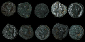 British Celtic - Ten Cast Potins - Thurrock Type