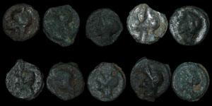British Celtic - Ten Cast Potins - Thurrock Type