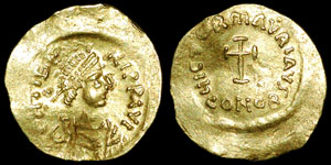 Byzantine - Maurice Tiberius - Tremissis