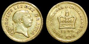 British Milled - George III - 1804 - Third Guinea