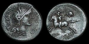 Roman Republic - M. Sergius Silus - Denarius