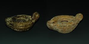 Roman - Two Glazed Oil Lamps
