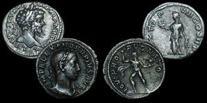 Roman Empire - Septimius Severus and Severus Alexander - Two Denarii