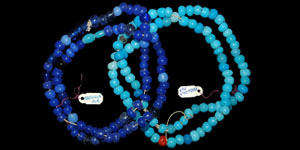 North America - Dark and Pale Blue Padre and Pony Trade Beads