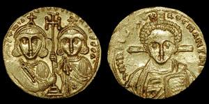 Byzantine - Justinian II and Tiberias - Solidus