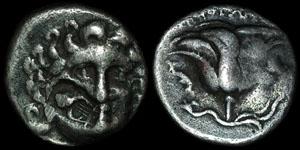 Greece - Rhodes - Autonomous - Helios and Rose - Countermarked AR Drachm