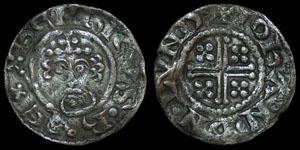 English Medieval - Henry II - Short Cross Penny - London - Iohan