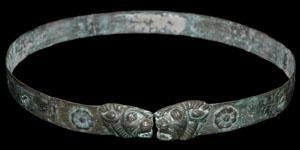 Bronze Age - Luristan - Lions Head Terminal Bronze Belt