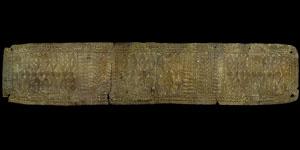 Bronze Age - Near East - Gold Repoussé Funerary Belt Plate