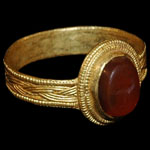 Roman - Gold Ring with Intaglio Gemstone