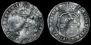 English Tudor - Philip and Mary - 1554 - Sixpence