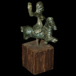 British Celtic - Bronze Horse and Rider Figurine