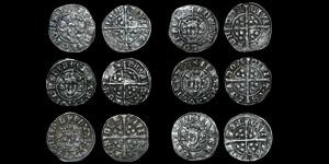 English Medieval - Six Edward I - Long Cross Pennies - London