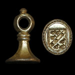 Medieval - Silver Gilt Armorial Seal Matrix - Sir Richard Wortley