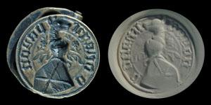 Medieval Bayonne Family Heraldic Seal Matrix