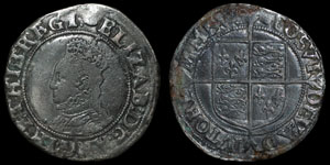 English Tudor - Elizabeth I - Shilling
