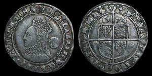 English Tudor - Elizabeth I - 1574 - Sixpence