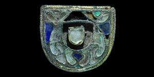 Merovingian Frankish Cloisonné Purse Fitting