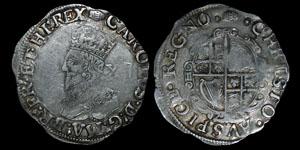 English Stuart - Charles I - Shilling - Tower
