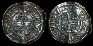 English Medieval - John - Short Cross Penny - Rhuddlan - Tomas