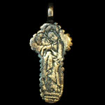 English Medieval - Gilt Engraved Reliquary Cross