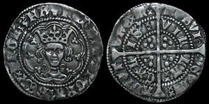 English Medieval - Henry VI - Annulet - Halfgroat - Calais