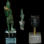 Roman - Statuette of a Soldier with Female Head and Bust of Minerva