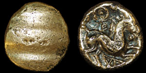 British Celtic - Cantii - Uninscribed Quarter Stater