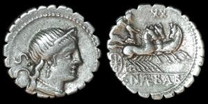 Roman Republic - C. Naevius Balbus - Denarius