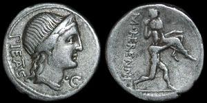 Roman Republic - M. Herennius - Denarius