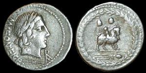 Roman Republic - Mn Fonteius Cf - Denarius