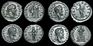 Roman Empire - Septimius Severus - Four Denarii