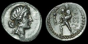 Roman Republic - Julius Caesar - Denarius