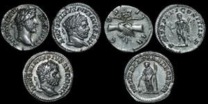 Roman Empire - Antoninus Pius and Caracalla - Three Denarii