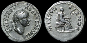 Roman Empire - Vespasian - Denarius