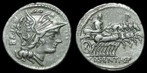 Roman Republic - L. Sentius - Denarius