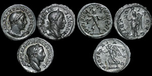 Roman Empire - Severus Alexander - Three Denarii