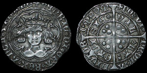 English Medieval - Henry VI - Rosette Mascle - Groat - Calais