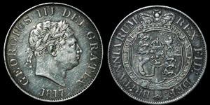 British Milled - George III - 1817 - Halfcrown
